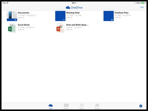 Using The OneDrive App To Organize Files On Your iPad