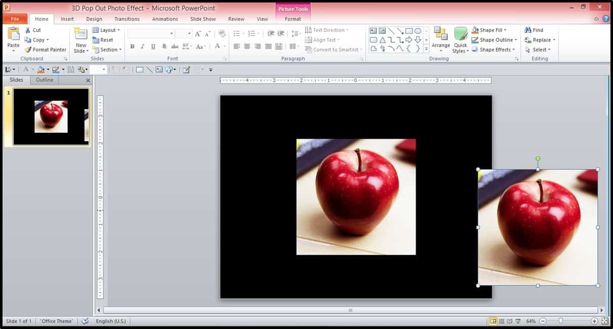 Powerpoint 3d Picture Popout Trick Part 2 Step #1 Nuts & Bolts Speed  Training For Google Slides Youtube Video How