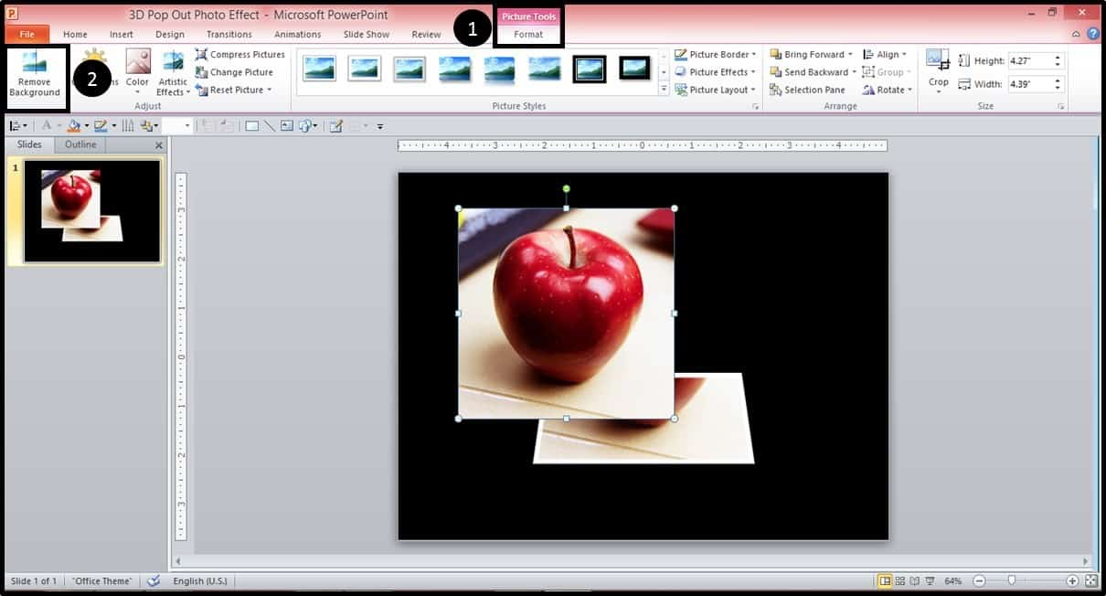 Powerpoint 3d Picture Popout Trick Part 3 Step #1a Nuts & Bolts Speed  Training For