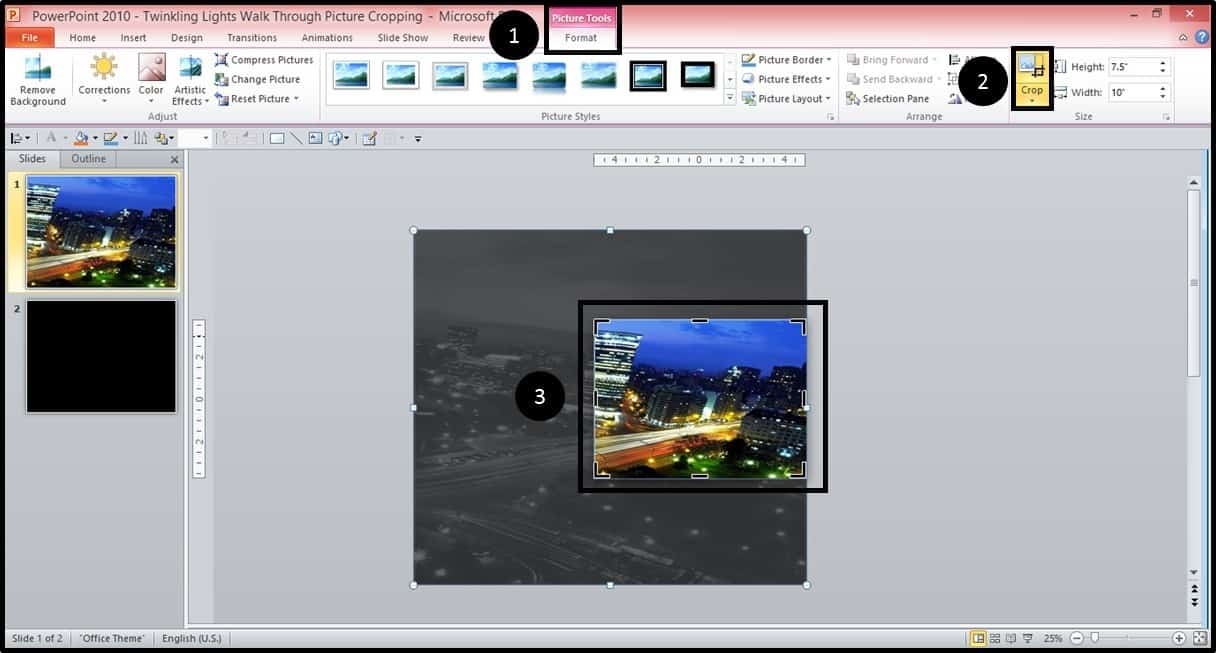 Powerpoint Animation City Night Scene Part 1 Step #1b Nuts & Bolts Speed  Training For