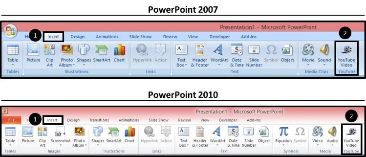 """Embed YouTube PowerPoint 2007 - Easy Method - Step #1 - Installed Addin 2"""