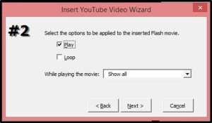 """Embed YouTube PowerPoint 2007 - Easy Method - Step #3D - Dialog box 32"""