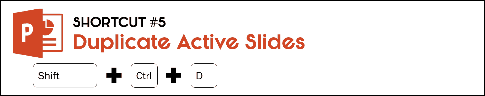 To duplicate the slide you are no, hit Control plus the Shift key plus the D key