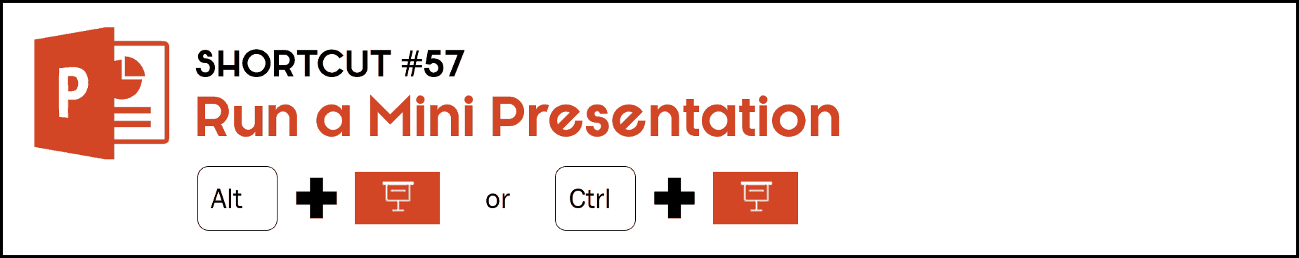 To run a mini view of your slide show, hold the Alt key and click the Slide Show icon at the bottom of your PowerPoint workspace