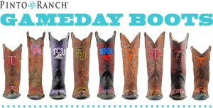 "These cool kids made cowboy ""Gameday Boots"" a thing, I like that!"