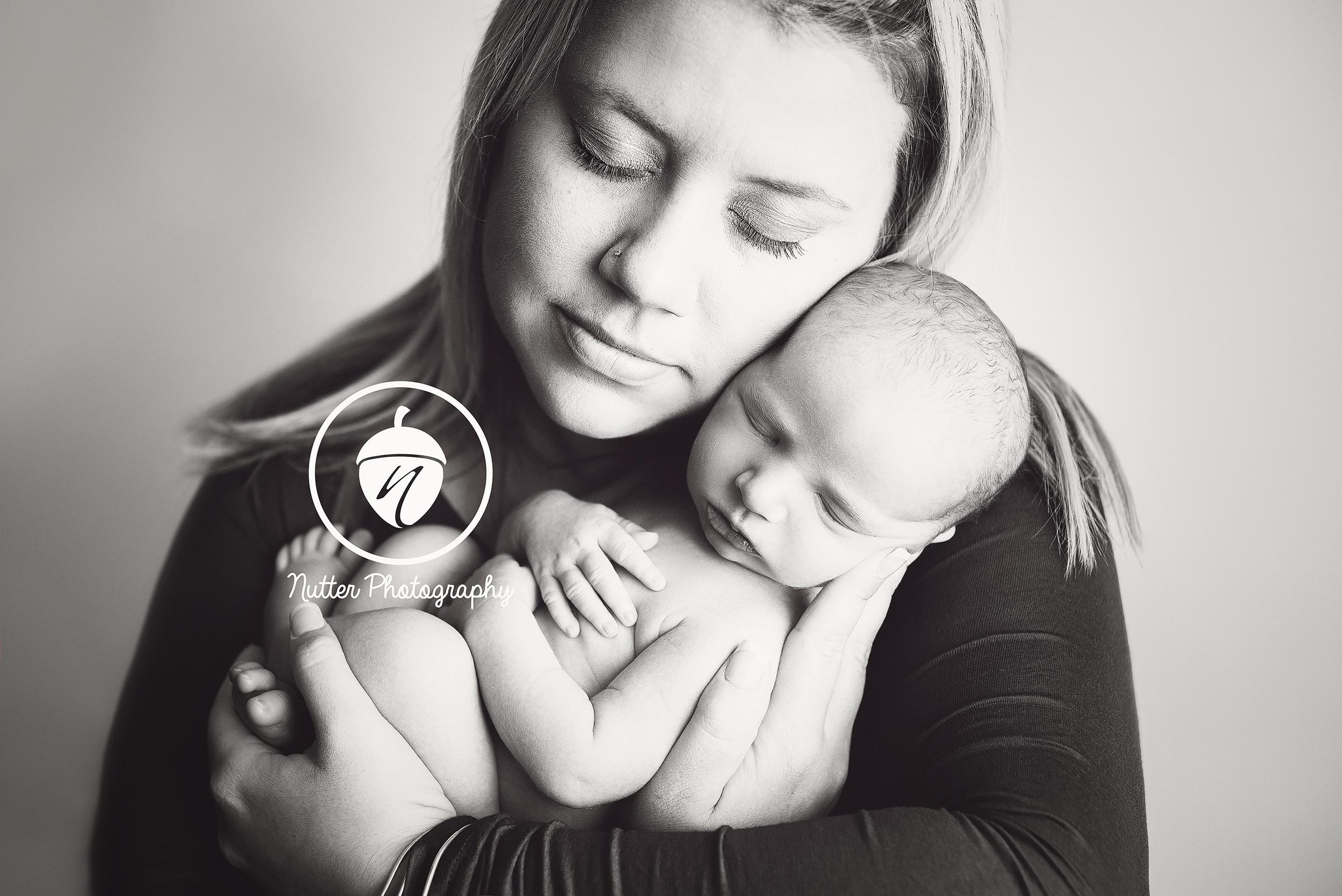 newborn baby with mom