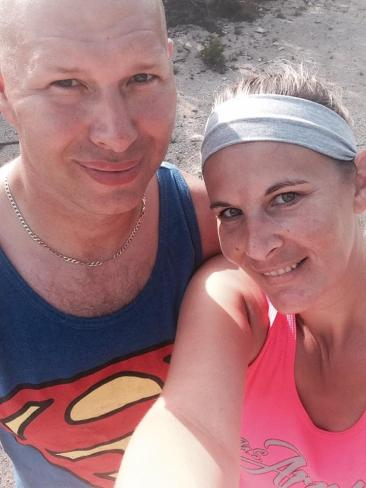 Bridget Carlson aka Nutty Hiker with her husband Jerry || Hiking with hubby