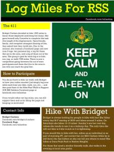 Hiking 1000 Miles For 3CR RSS Troops