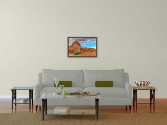 16x24 Picture over the sofa