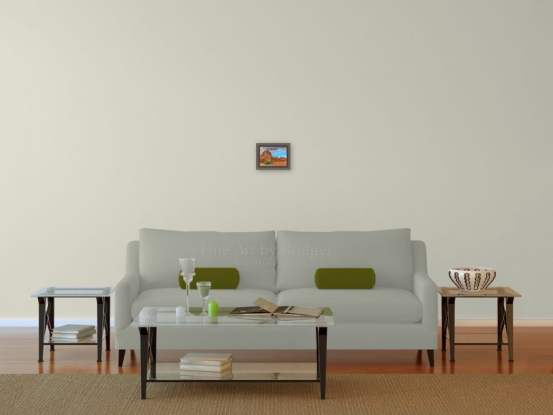5x7 Picture over a sofa