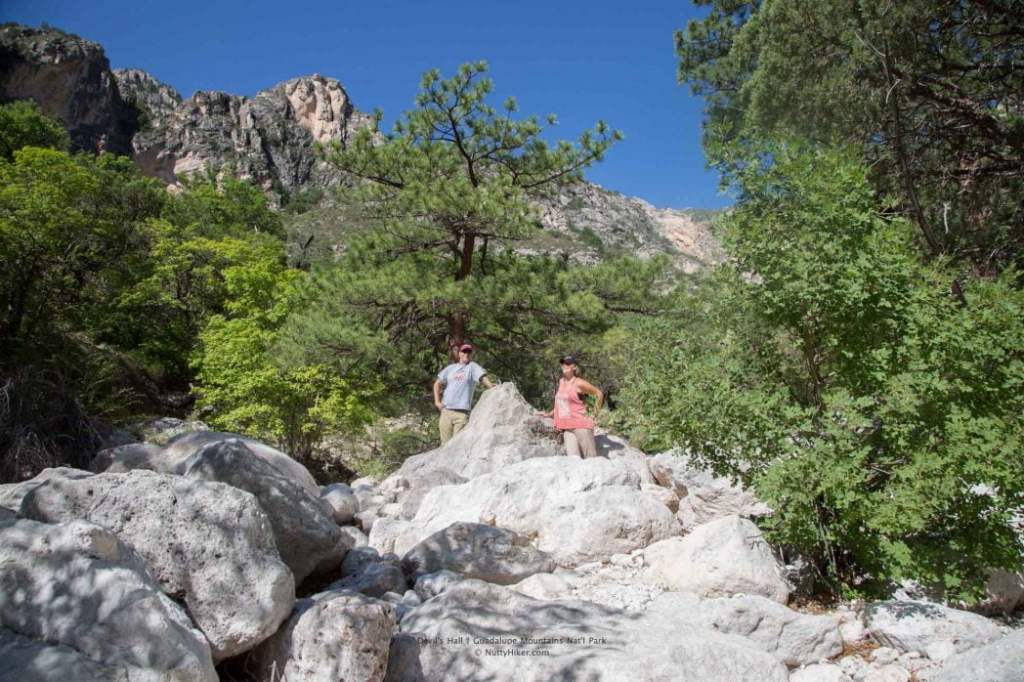 Devil's Hall Trail at Guadalupe Mountain National Park in Texas.
