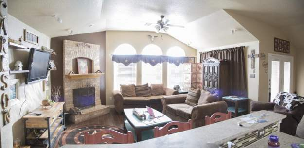 Our new layout of the Family room