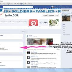 Fort Lee MWR has a potty mouth on Facebook