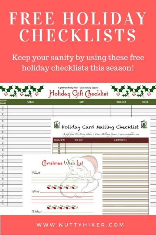 Free Holiday Checklists & Printable's. Don't loose your sanity this holiday season, download these checklists to keep you organized!