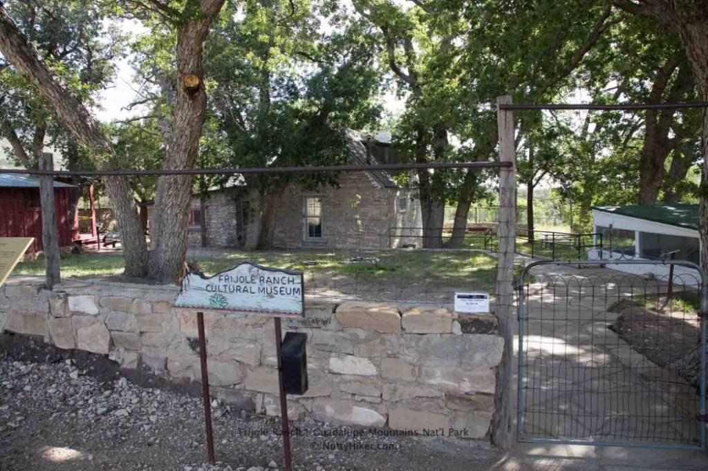 Frijole Ranch Museum at Guadalupe Mountains National Park in Texas