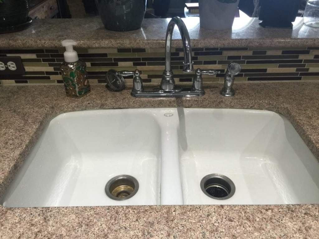 kitchen faucet before