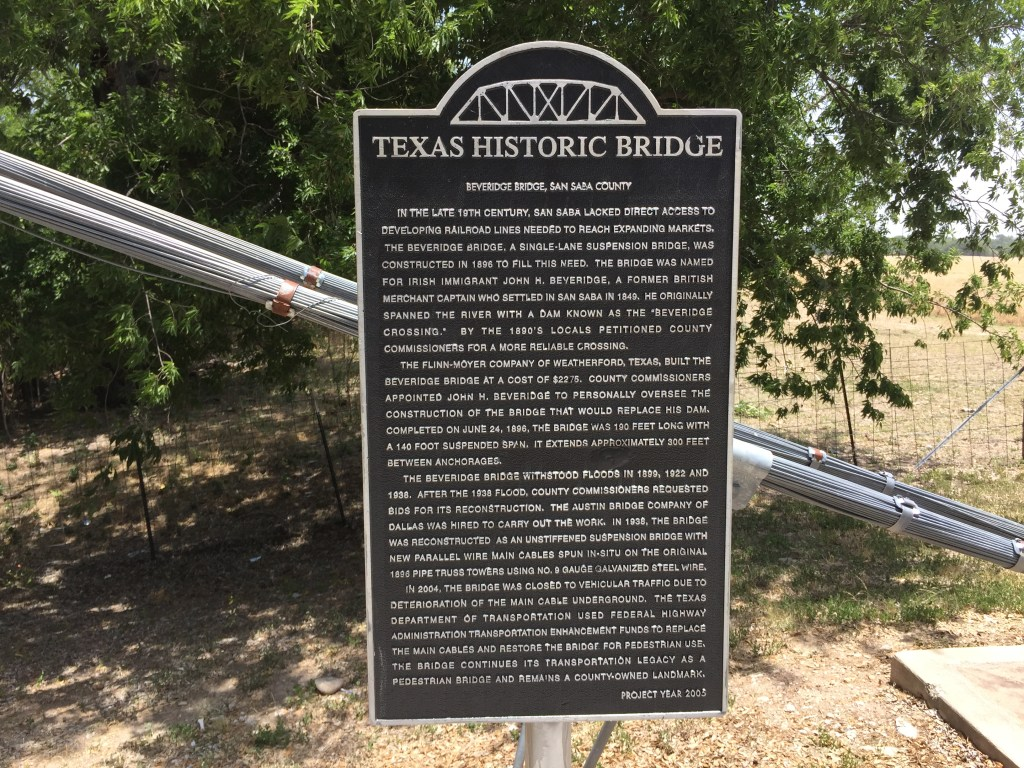 Beveridge Bridge Historical sign