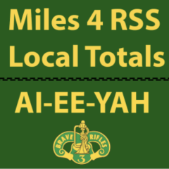 Local Totals of miles logged for 3d CR RSS Deployed Soldiers