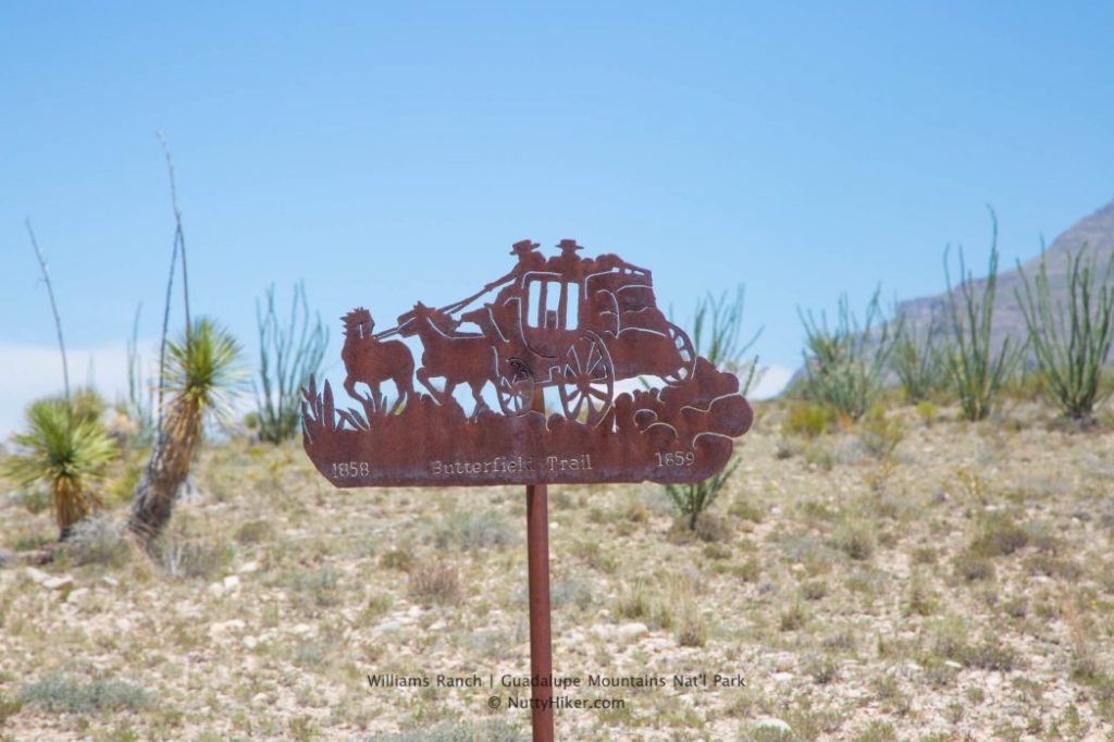 Old Butterfield Stagecoach Line at Williams Ranch in Guadalupe Mountains National Park in Texas