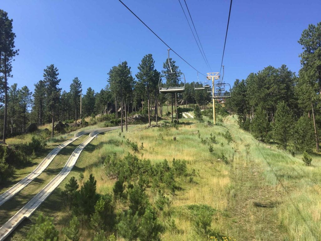 Riding the Alpine Slide in Keystone, South Dakota