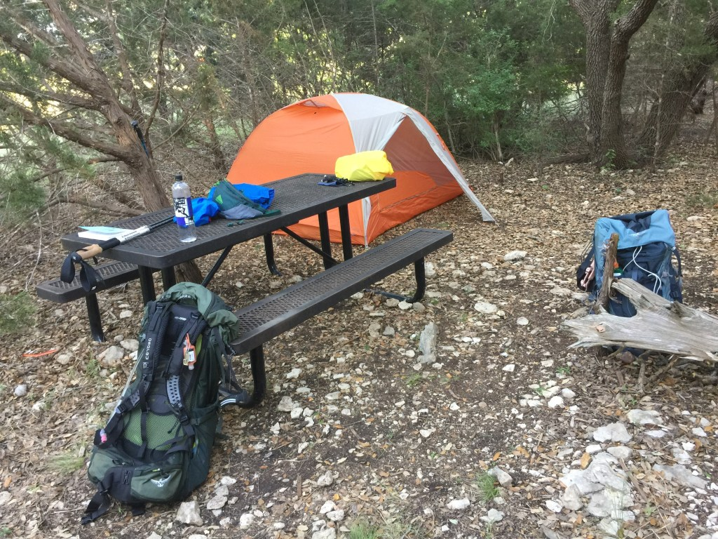 Cedar Hollow Camp at Lake Georgetown on the Goodwater Loop Trail