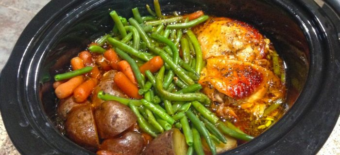 Crock Pot Honey Garlic Chicken with Veggies