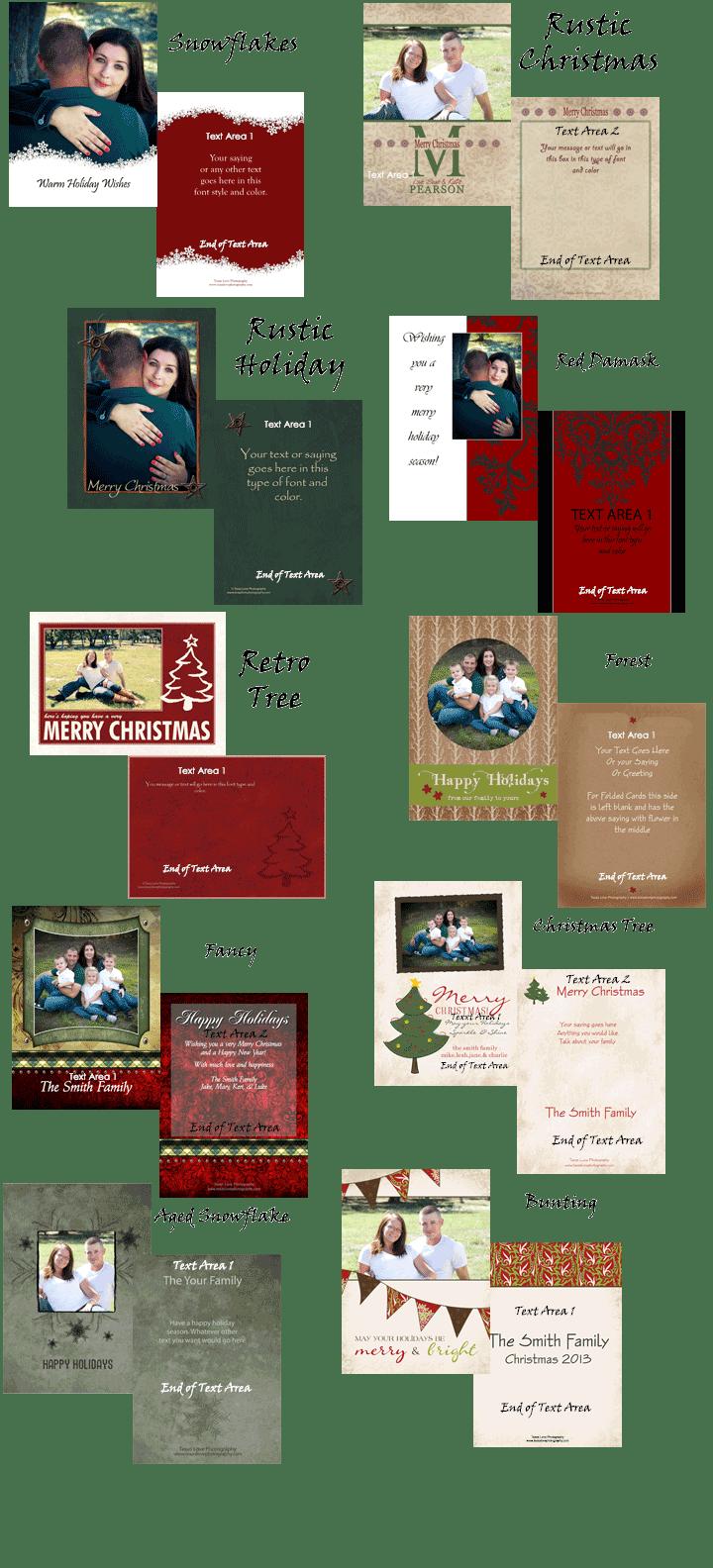 Custom Christmas Cards Flat