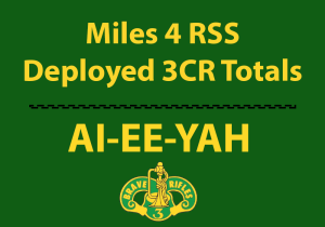 Deployed 3CR Miles Totals of miles logged by Soldiers deployed with 3CR Fort Hood Texas