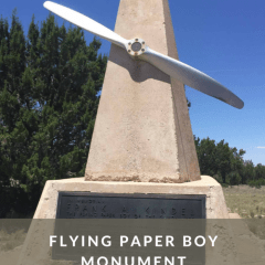 Flying Paper Boy Monument in Lincoln National Forest