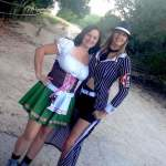 Halloween Hiking Day 1, dressed up in gangster costume, hiking Dana Peak Park Texas near Fort Hood