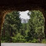 Viewing Mount Rushmore Through Mountain Road Tunnel