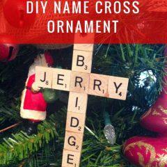 DIY Scrabble Name Cross Ornament
