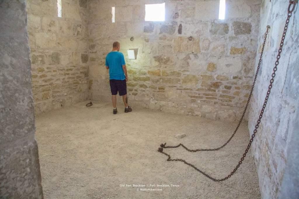 Old Historic Fort Stockton Guard House (Prisoner Area)