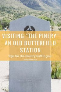 Pinery Nature Trail & Old Pinery Butterfield Station at Guadalupe Mountains National Park in Texas