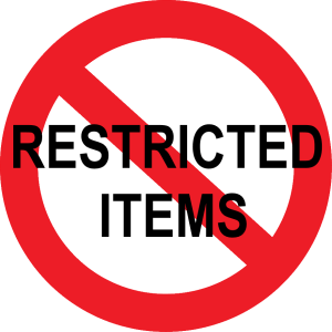 Restricted Items