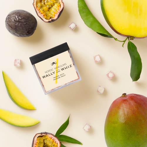 wally and whiz - vegansk vingummi - mango og passionsfrugt