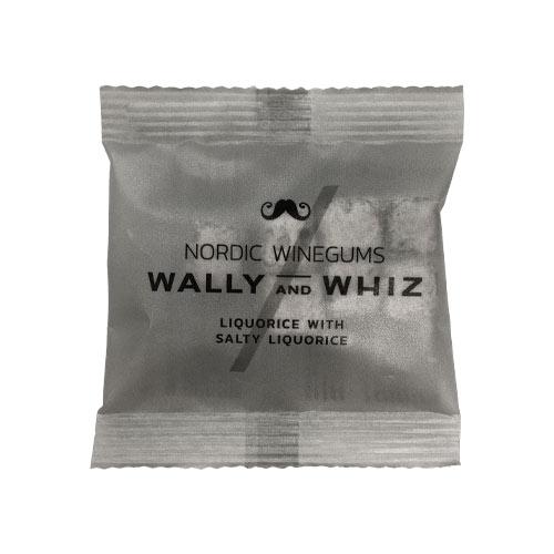 vegansk lakrids - vegansk slik - wally and whiz saltlakrids flowpack