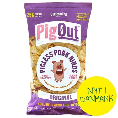 veganske flæskesvær - pig out - veganske chips