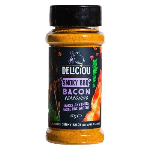 deliciou baconkrydderi med smoky bbq - vegansk baconkrydderi