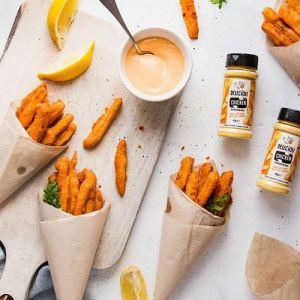 deliciou vegansk krydderi med kyllingesmag