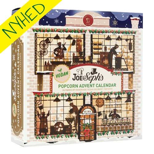 popcorn julekalender køb - vegansk popcorn julekalender joe & sephs