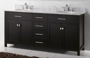image of double bathroom granite vanity in Calgary