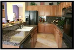 image of kitchen cabinets stones and counters Calgary