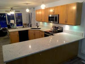 image of nuvo stones granite and quartz countertops installed