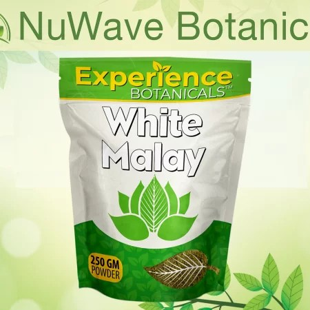 nuwave products experience botanicals white malay 250gm