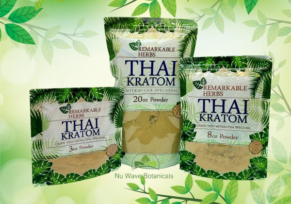 Remarkable Herbs Thai Kratom 3oz 20 oz and 8oz