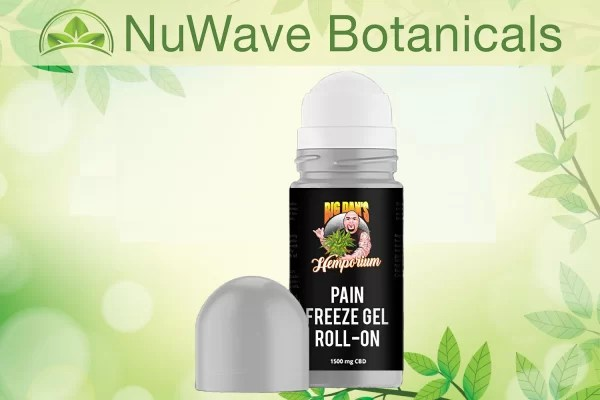 nuwave products big dans hemporium cbd pain freeze gel roll on 1500