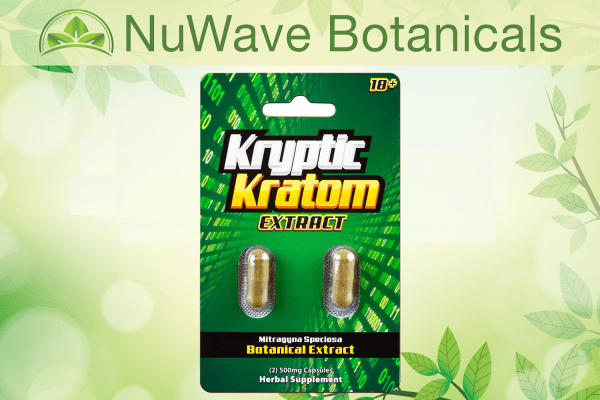 nuwave products kryptic kratom extract 2ct
