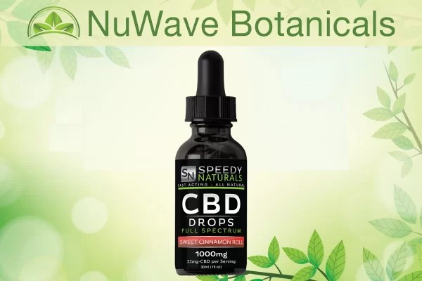 nuwave products speedy naturals cbd drops sweet cinnamon roll 1000