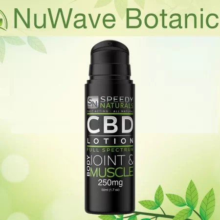 nuwave products speedy naturals cbd lotion body joint muscle 250